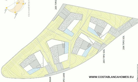 Finestrat villa s 224 costa blanca - Plan ouderslaapkamer met badkamer en kleedkamer ...