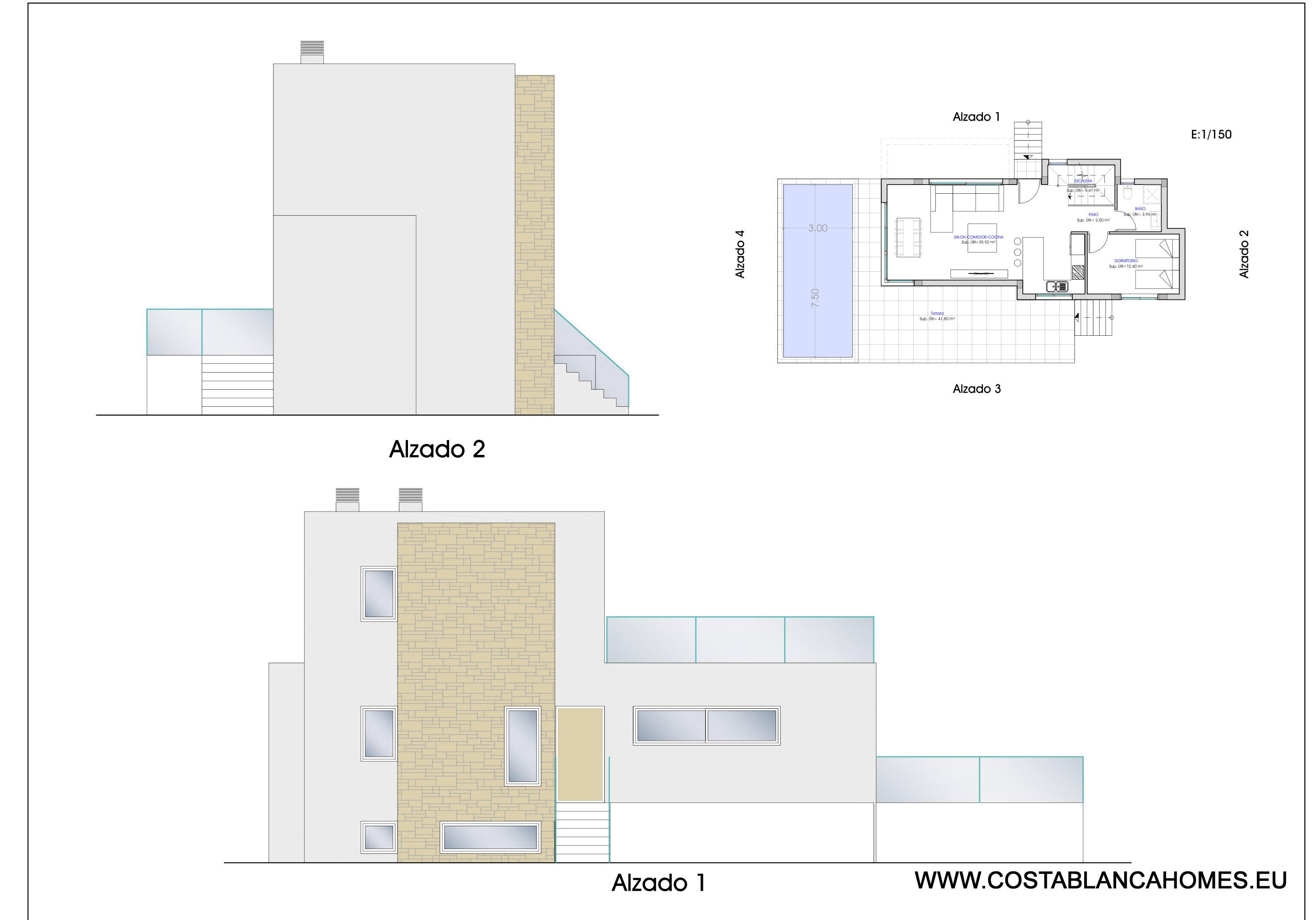Finestrat benidorm villa s 417 costa blanca - Vliegtuig badkamer m ...
