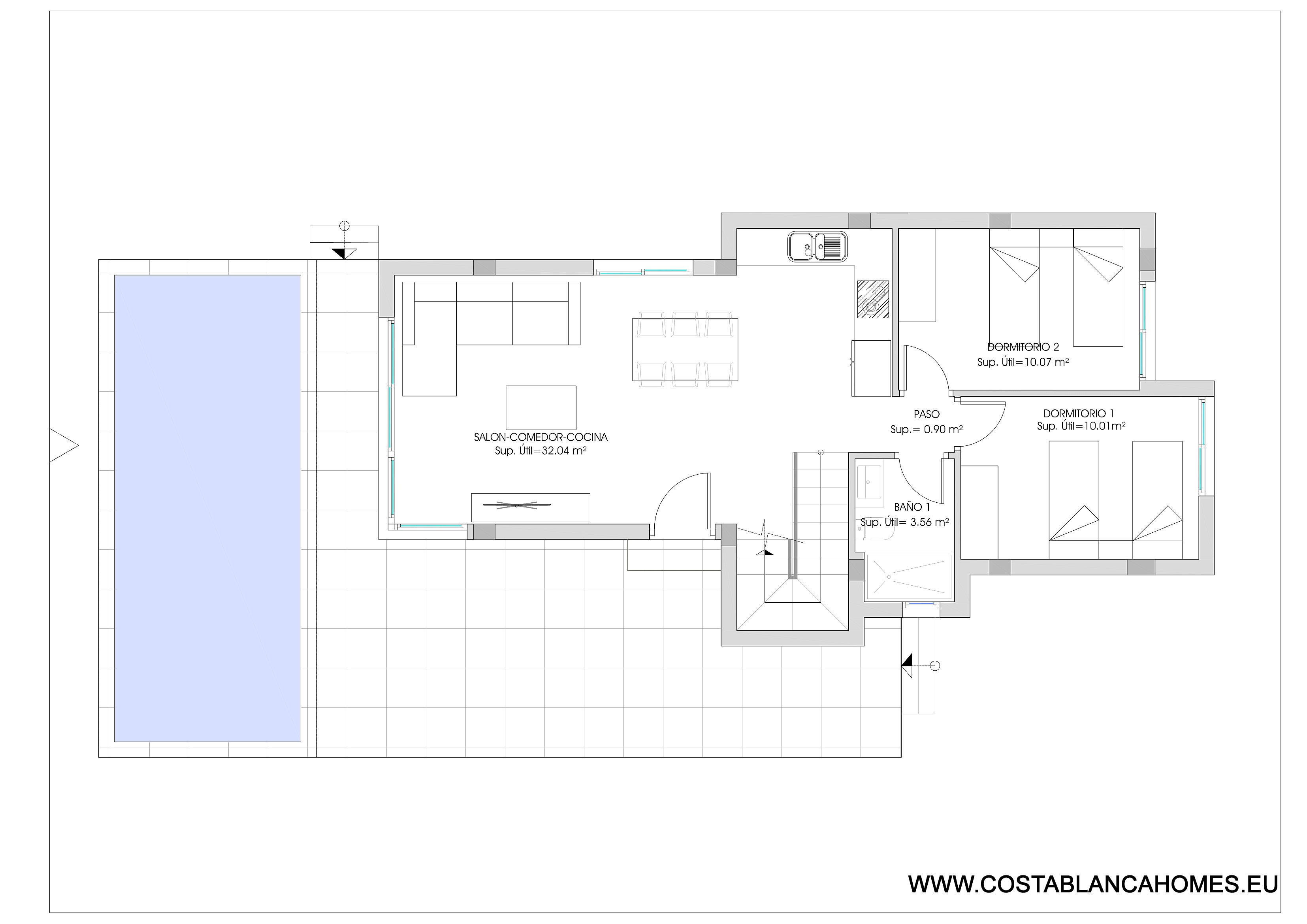 Finestrat villa s 415 costa blanca - Vliegtuig badkamer m ...